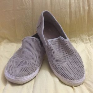 Toms perforated slip ons